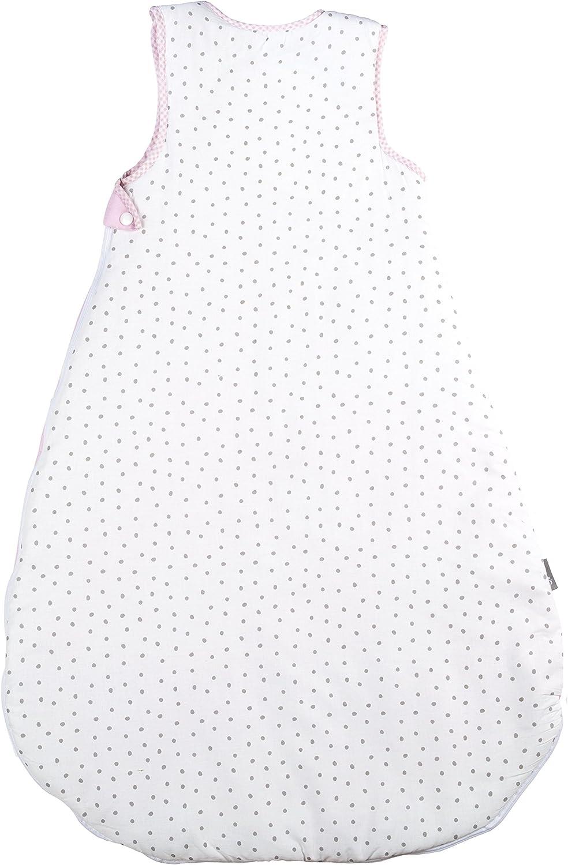 utilizable durante todo el a/ño Saco de dormir de 70 cm para bebes roba fabricado en algod/ón transpirable unisex colecci/ón textil de roba Happy cloud
