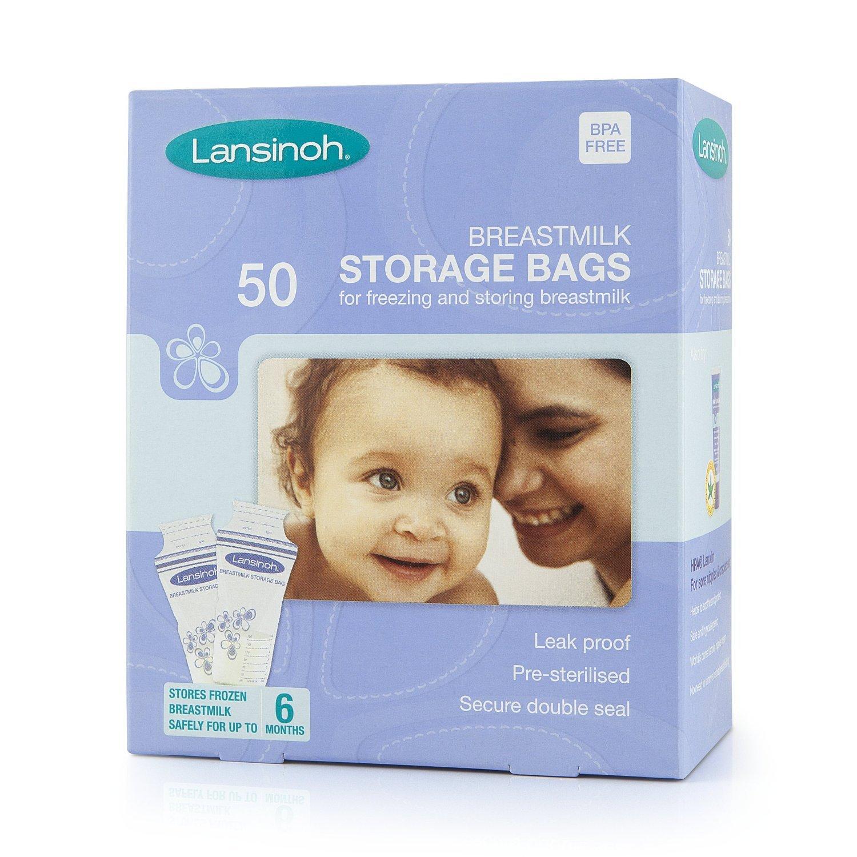 Pack de 50, 100, 150, 200 Lansinoh leche materna bolsas de almacenamiento. Talla:1x50