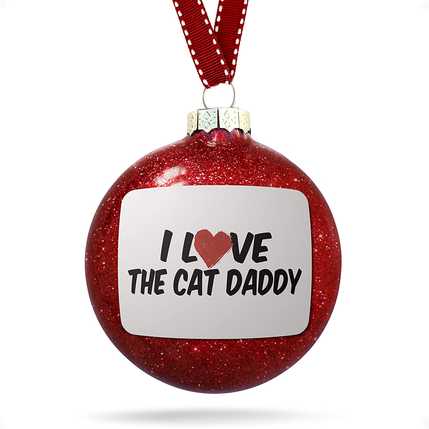 Amazon.com: Christmas Decoration I Love the Cat Daddy Ornament: Home ...