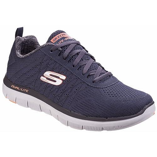 96468a110d683 Skechers Men's Flex Advantage 2.0 52185-dknv Low-Top Sneakers, Blue (Navy