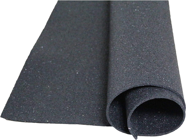acerto 31140 Estera de protección de edificios hecha de gránulos de goma - 1.25m x 1.00m x 10mm * Para todos los pisos * Carga permanente * Elástico   Uso como alfombra antideslizante alfombra