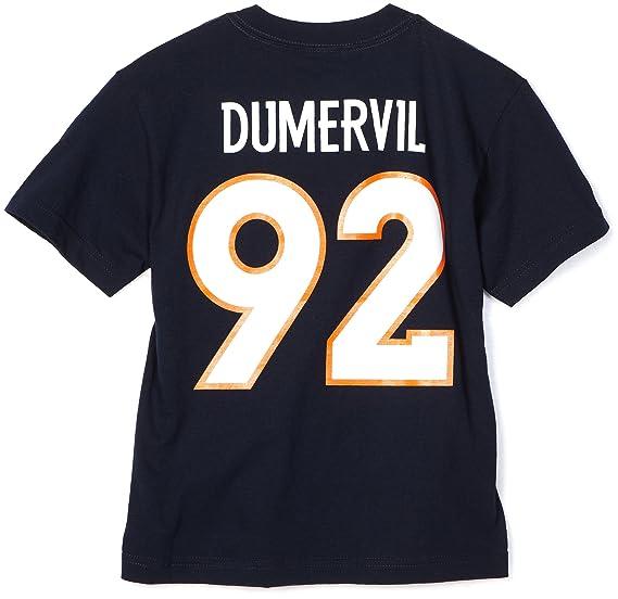 3aa9a0c1f Amazon.com   NFL Boys  Denver Broncos Elvis Dumervil 8-20 Name   Number Tee  Shirt (Blue