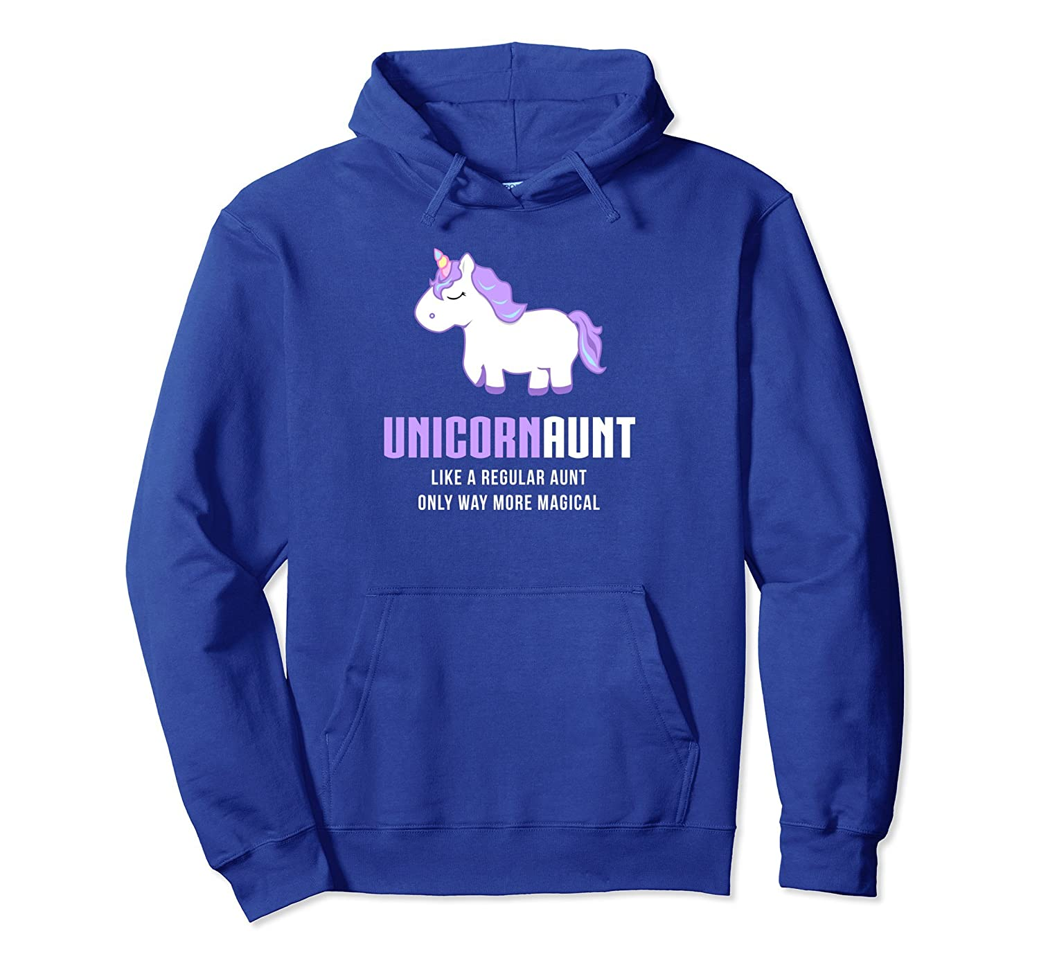 Unicorn Aunt Hoodie Funny Cute Magical Gift-fa