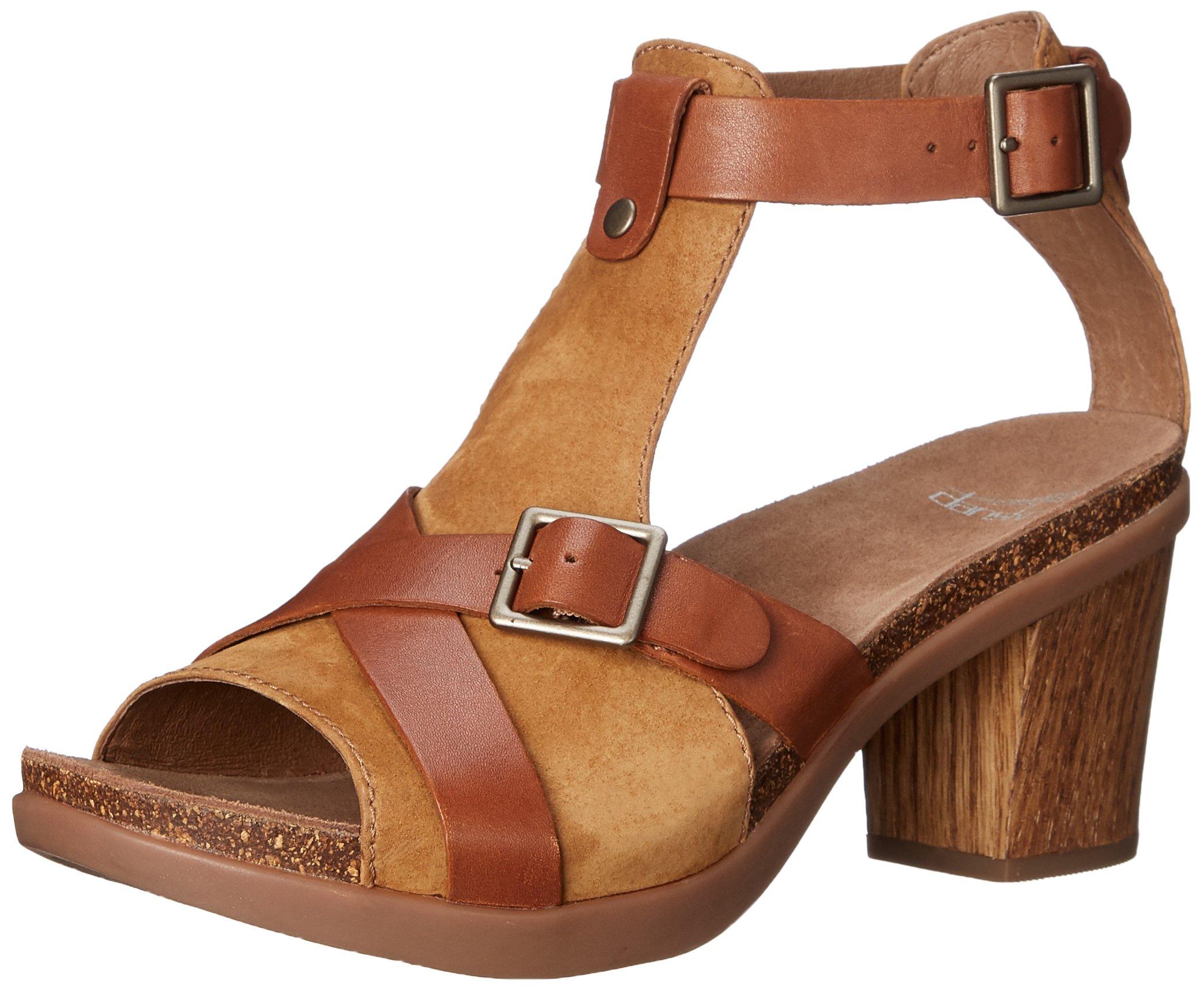 Dansko Women's Dominique Dress Sandal, Camel Leather, 41 EU/10.5-11 M US