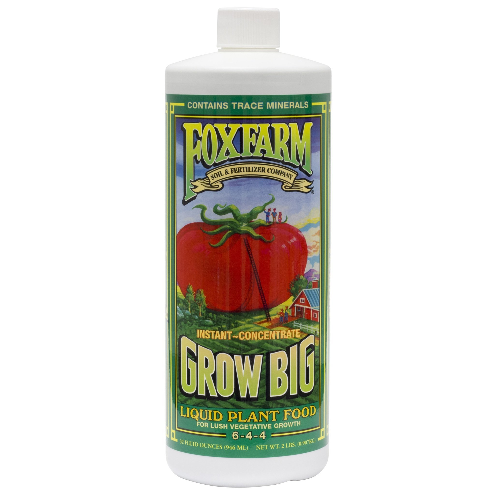 Fox Farm FX14006 1-Quart FoxFarm Grow Big Liquid Concentrate 6-4-4 by Fox Farm