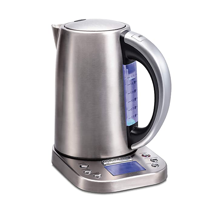 Hamilton Beach 41028 Professional Electric Kettle with Digital Controls, 6 Preset Temperatures, LCD Screen, 1500 Watts Silver