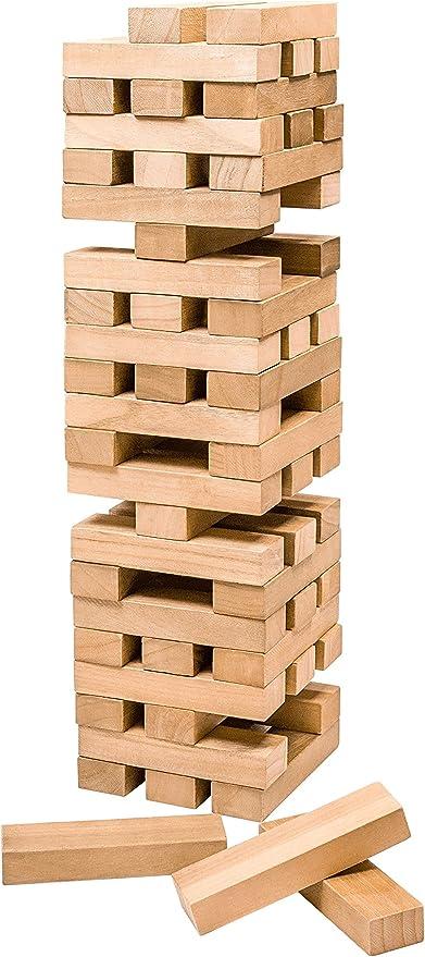 Professor PUZZLE Gigante Torre Toppling Juego de jardín: Amazon.es: Juguetes y juegos