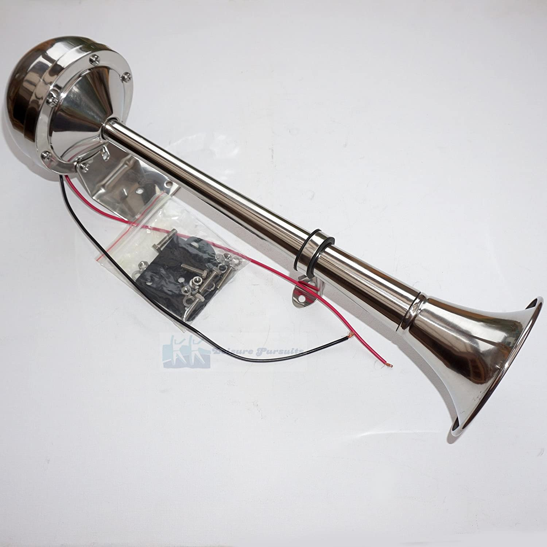 12V Marine GradeStainless Steel Electric Single Horn Trumpet For Boat Yacht Loud