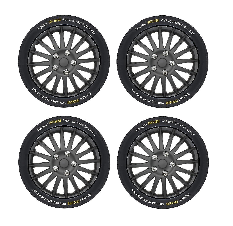 14 COMET BLACK /& RED WHEEL TRIMS XtremeAuto/® Black Silver Blue Red Wheel Trim Set x 4 WLW2-A15