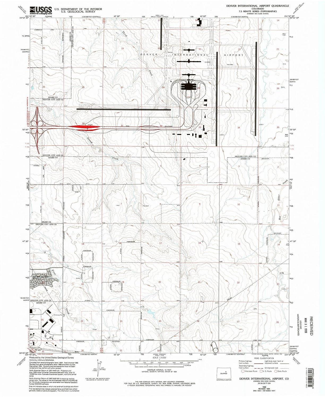 Amazon.com: Colorado Maps - 1966 Denver International ...