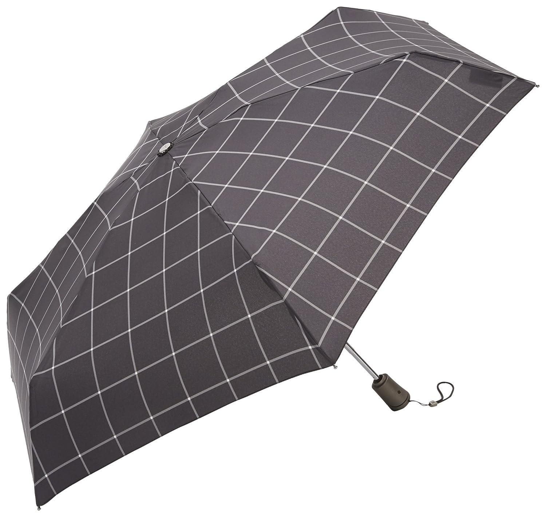トーツ (totes) 自動開閉 折り畳み傘 Titan Line 四つ折り56cm W80(ブラックチェック) B01BHU65XW ウィンドウペン ウィンドウペン