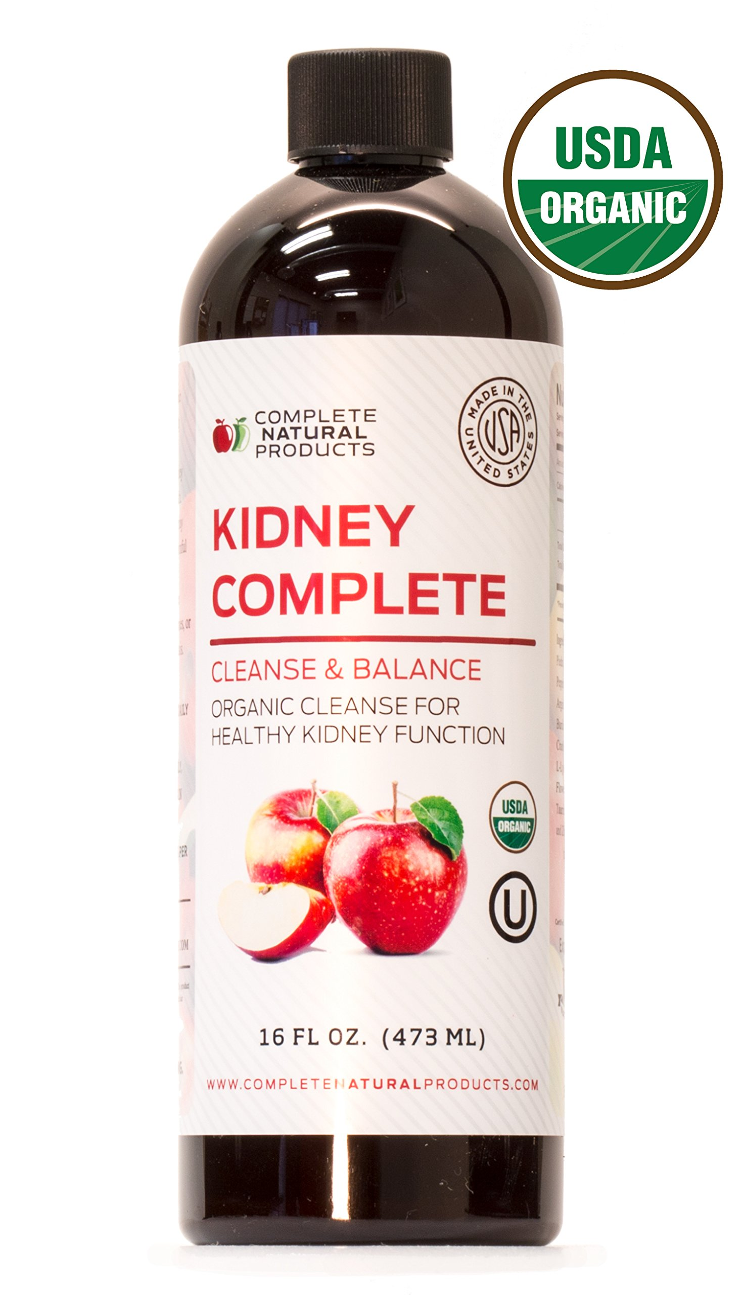 Kidney Complete 16oz - Organic Liquid Kidney Stone Breaker, Kidney Stone Dissolver & Natural Kidney Stones Treatment by Complete Natural Products