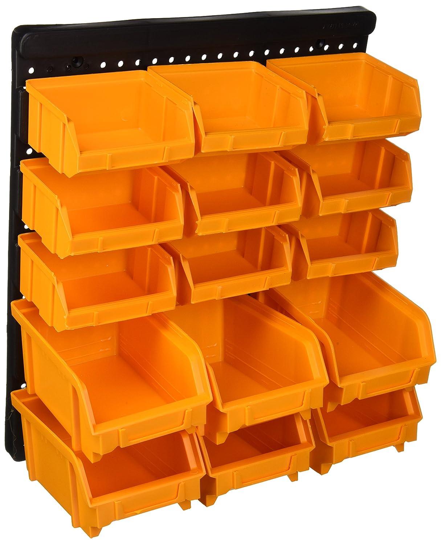 6/tama/ño mediano polipropileno. Panel con 9/peque/ños contenedores de almacenamiento de objetos peque/ños