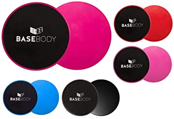 71ce5e624341 BaseBody Gliding Discs - Pink or Blue or Black – Core Sliders - Exercise  Discs -
