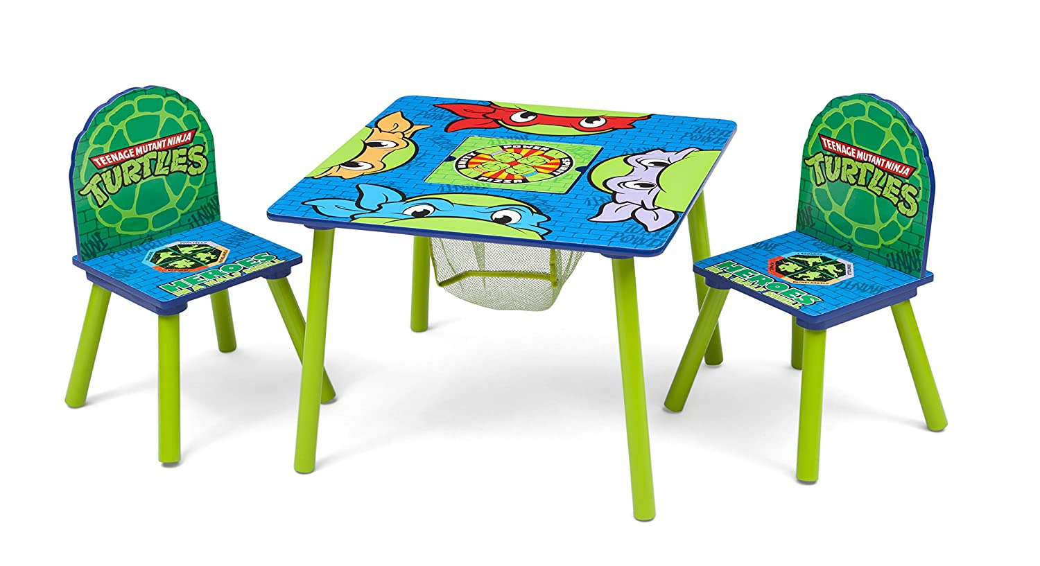 Delta Children Kids Chair Set and Table (2 Chairs Included), Nickelodeon Teenage Mutant Ninja Turtles