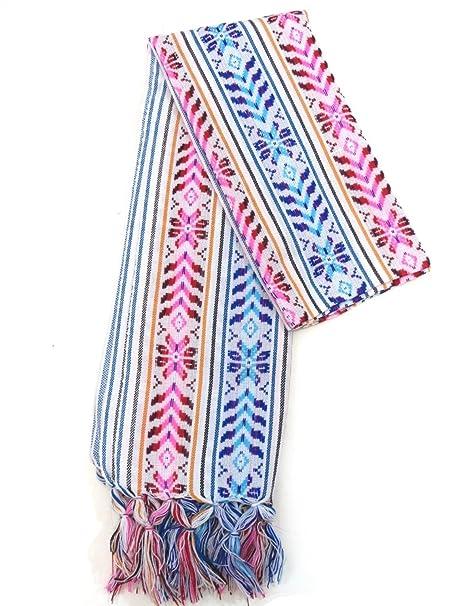 XL 9 ft Long Doula Mexican Rebozo Shawl (Doula White w