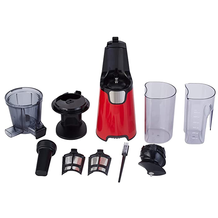 Homevolts Slow Juicer, Compact Size, White/Black