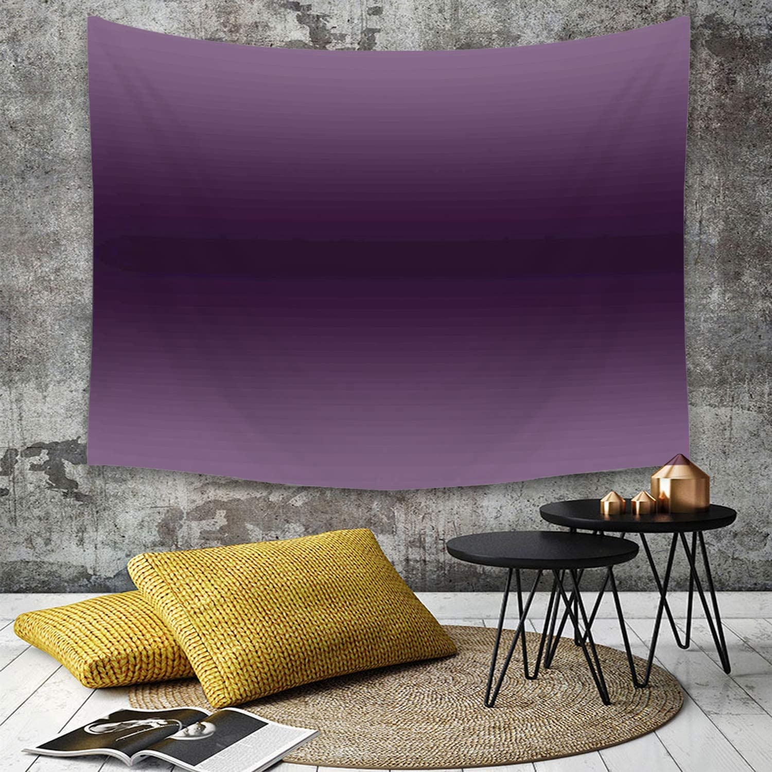 Yaoni Tapestry Wall Hanging Ombre Hollywood Glam Show Inspired Color Ombre Design Digital Printed Decorations Image Purple Home Decor Art Tapestries For Bedroom Living Room Dorm Apartment Amazon Co Uk Kitchen Home