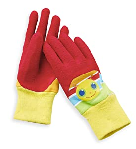 Melissa & Doug Giddy Buggy Good Gripping Gardening Gloves With Easy-Grip Rubber on Palms Ages3-6