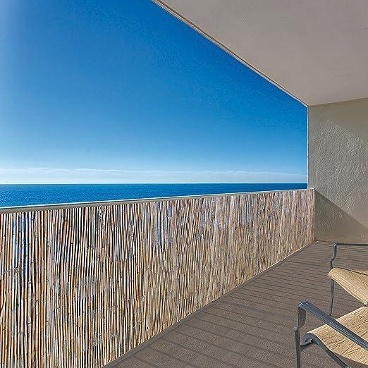 URBNLIVING Panel exterior de láminas de bambú para vallas de jardín, 2 tamaños: Amazon.es: Jardín