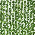 JPSOR 24 hojas de hiedra falsas de 158 pies, hiedra artificial, guirnalda de hiedra de seda, plantas colgantes artificiales p