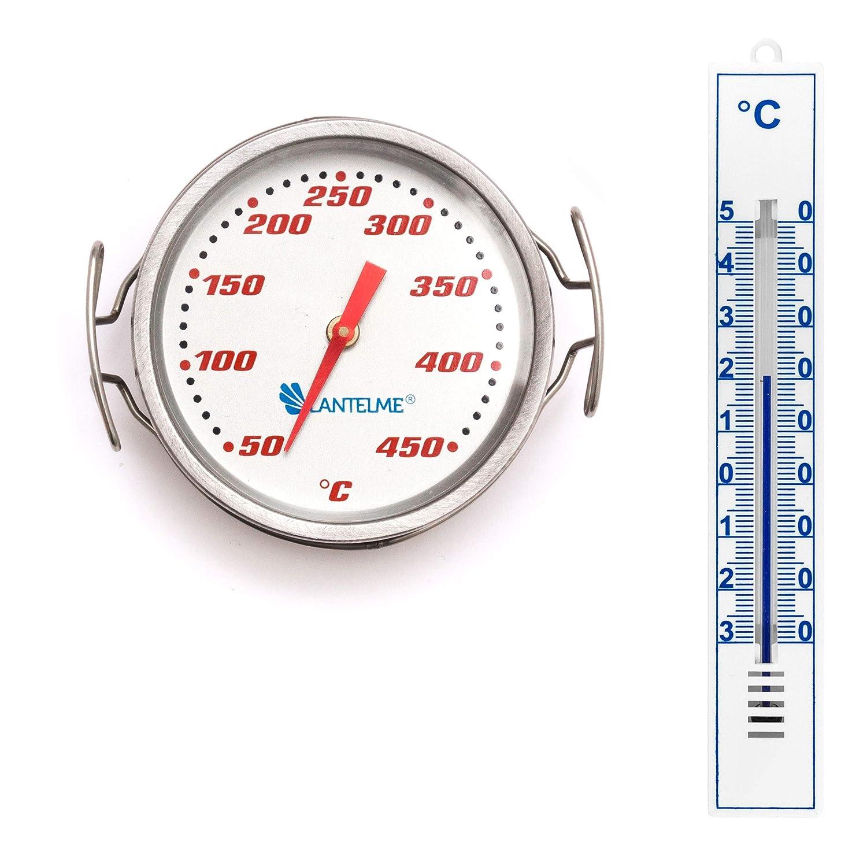 Lantelme 7267 Parrilla termómetro y jardín Termómetro Set ...