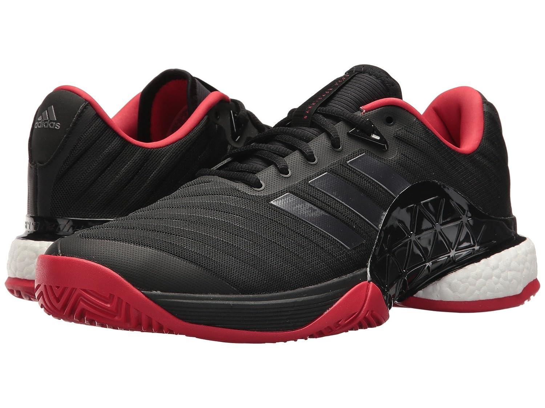 (アディダス) adidas メンズテニスシューズスニーカー靴 Barricade 2018 Boost Black/Night/Scarlet 12 (30cm) D - Medium B07BQTQ1Y7