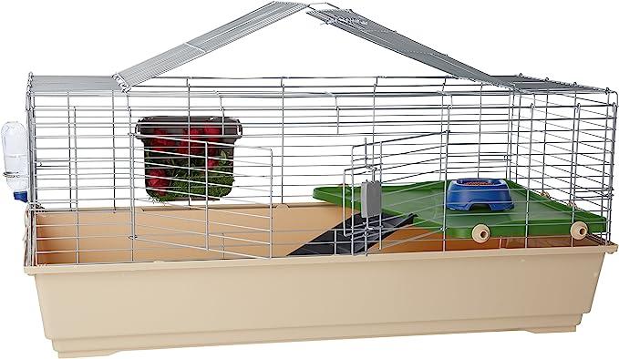 AmazonBasics – Jaula hábitat para animales pequeños con accesorios, 124 x 68 x 52 cm, Extragrande