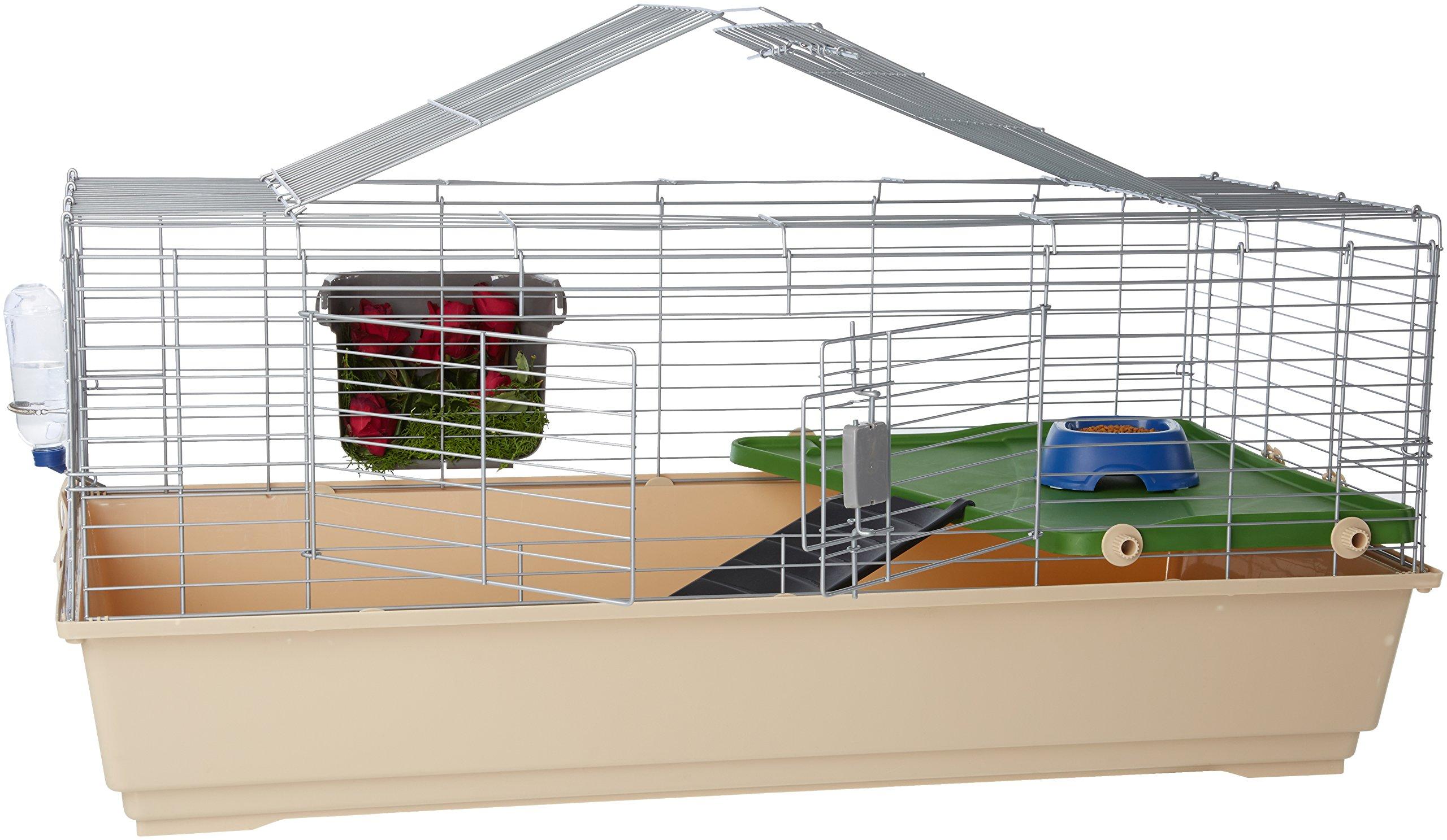 AmazonBasics Small Animal Cage Habitat With Accessories - 49 x 27 x 21 Inches, Jumbo by AmazonBasics