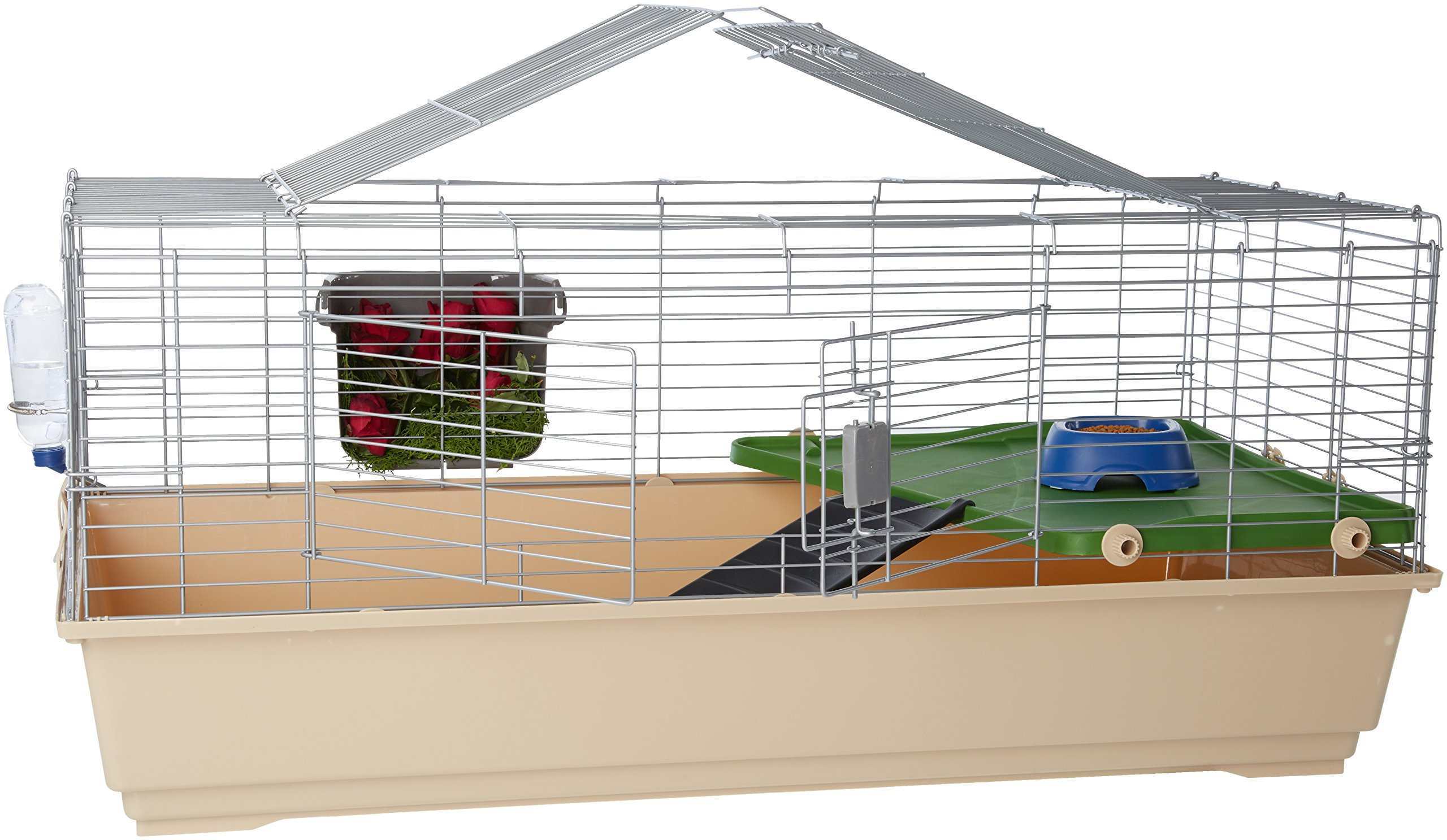 AmazonBasics Small Animal Cage Habitat With Accessories 1