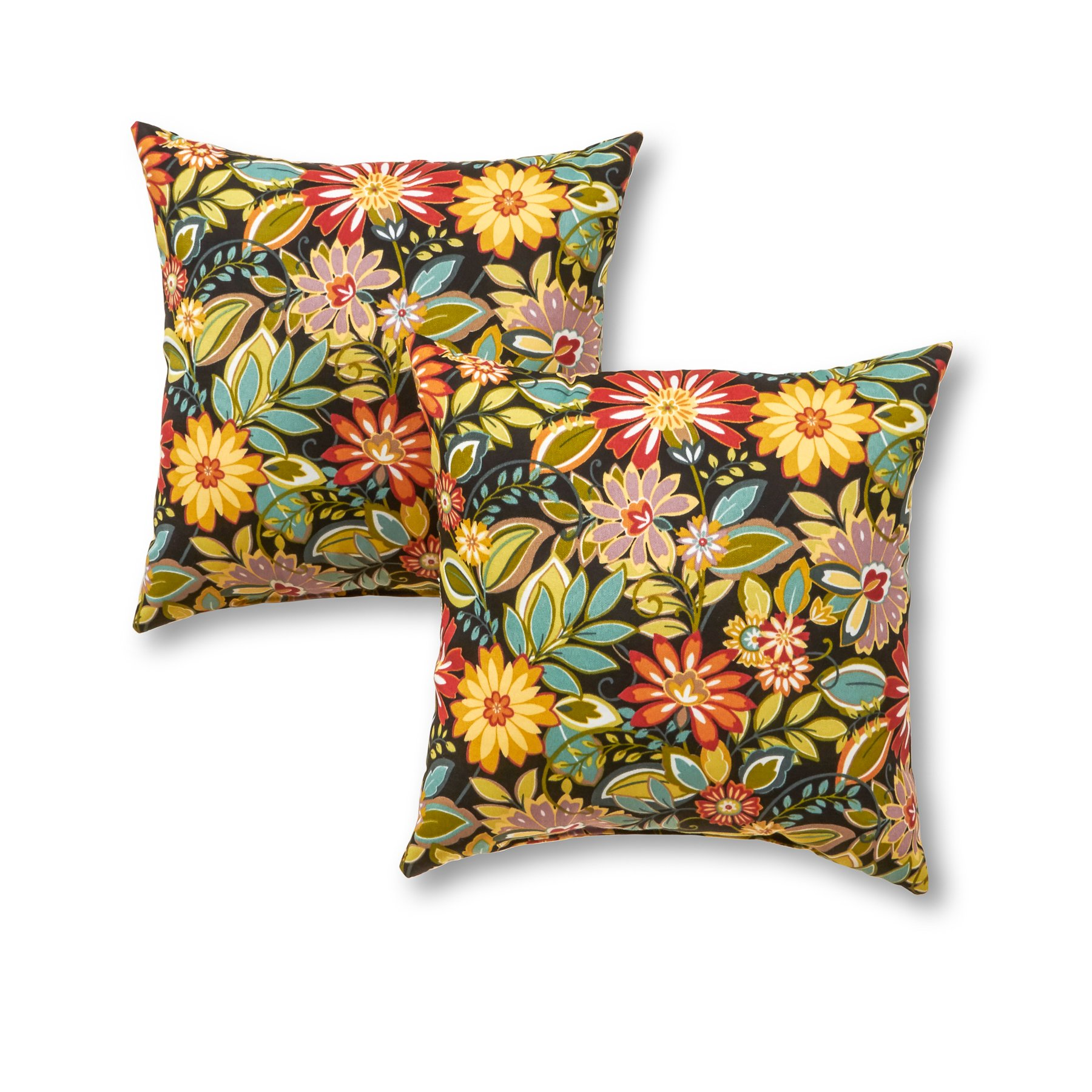 Greendale Home Fashions 17 in. Outdoor Accent Pillow (set of 2), Jungle