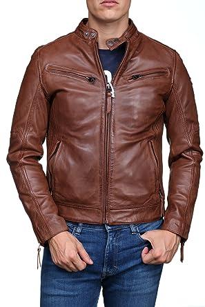 5f00be09f487 Redskins - Blouson en Cuir Lynch Casting H17 Cognac - Couleur Marron -  Taille XL
