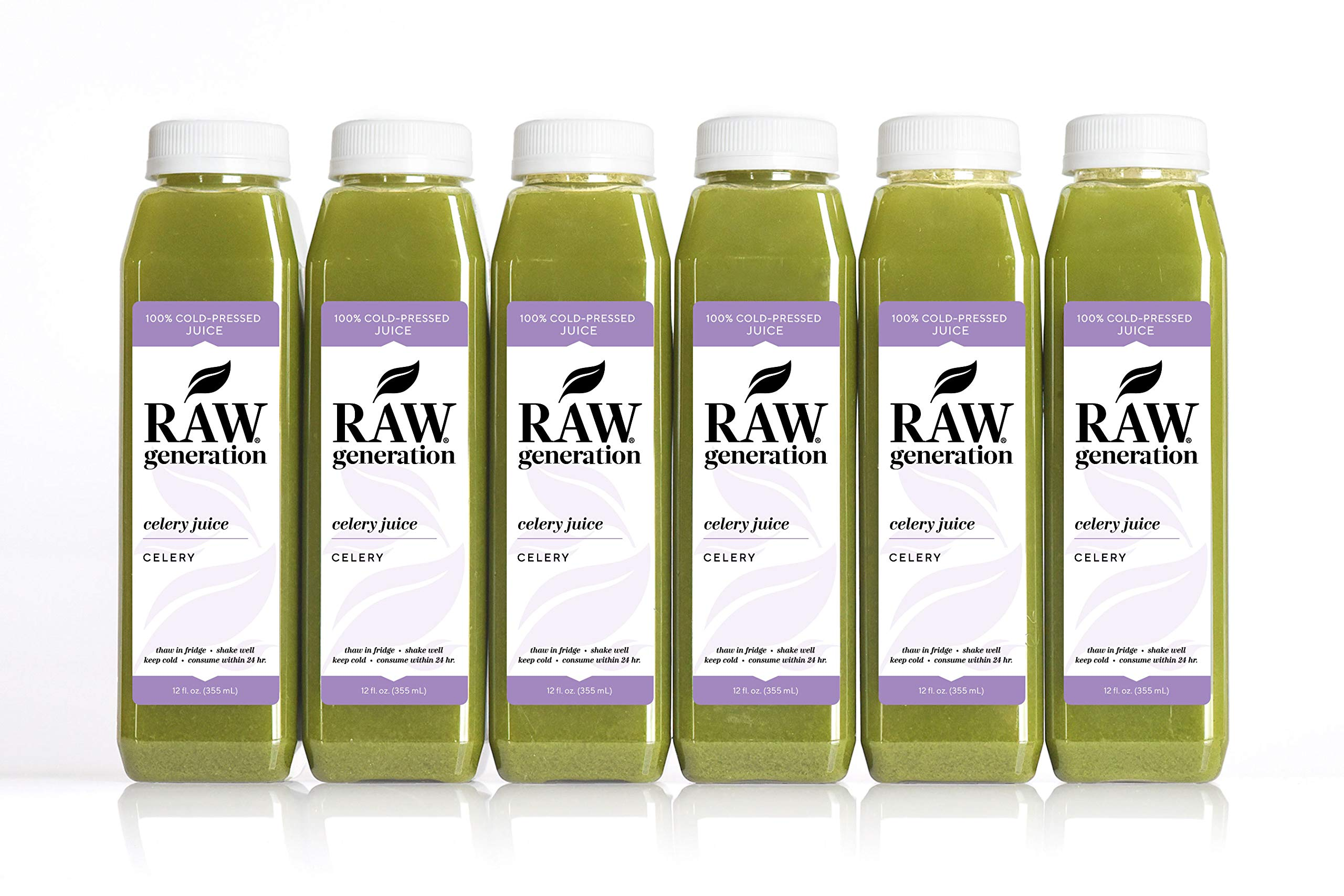Celery Juice Daily Health Tonic by Raw Generation (18-Count) - 100% Pure Celery with a Splash of Lemon/Great for Detoxifying Your Body and Boosting Energy/Best to Use Once Daily on Empty Stomach by RAW generation