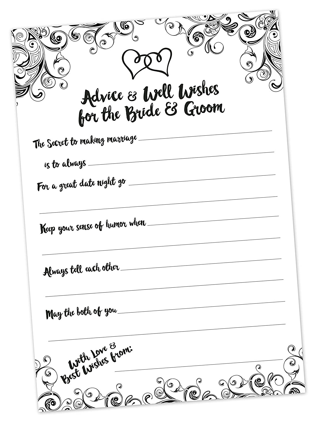 Amazon Wedding Advice Cards 50 Count Advice And Well