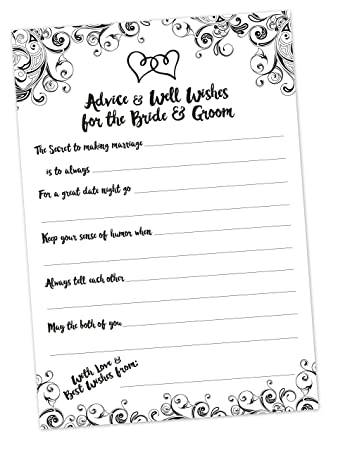 advice and well wishes cards for the bride and groom bridal shower game wedding