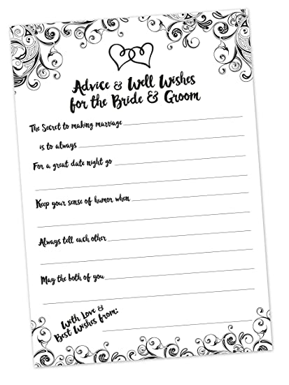 wedding advice cards 50 count advice and well wishes cards for the bride
