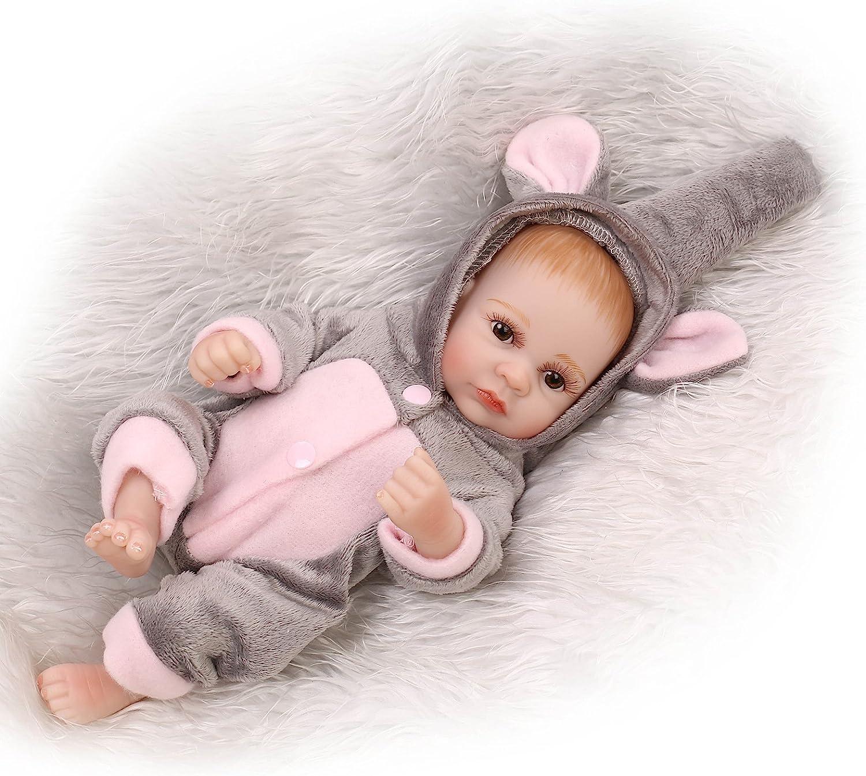 10'' Reborn Baby Doll Lifelike Handmade Full Silicone Vinyl Newborn Girl Gift