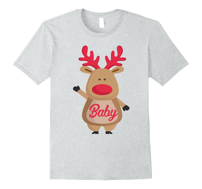 Baby Christmas Reindeer Family Matching Pajamas T-Shirt-T-Shirt