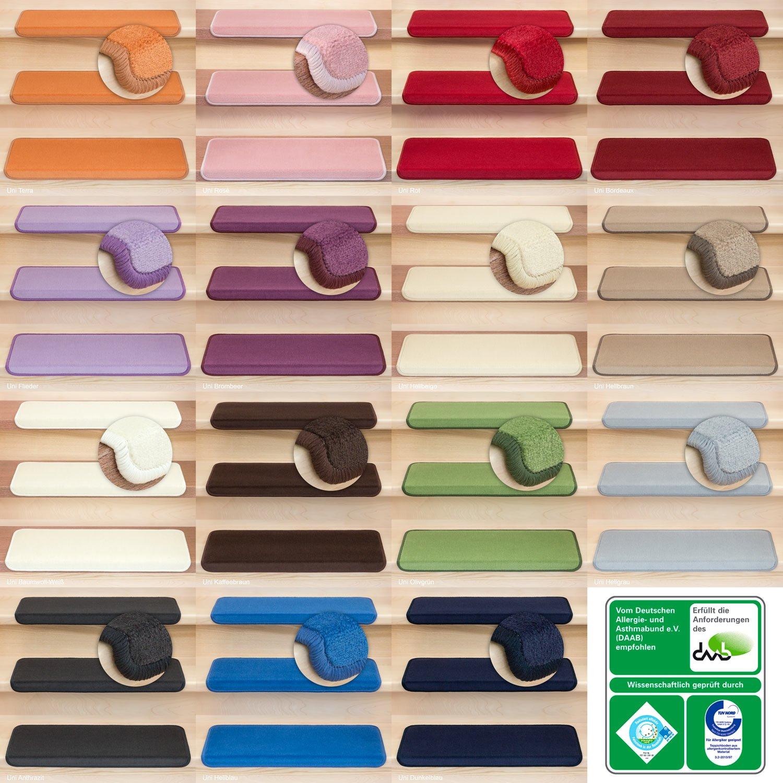 Kettelservice-Metzker Stufenmatten Vorwerk Uni Einzeln und Sparset's Rot 15 Stück Stück Stück Halbrund 060fde