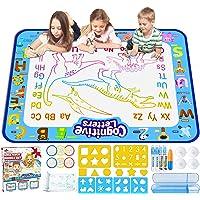 Jasonwell Aqua Magic Doodle Mat 40 X 32 Inches Extra Large Water Drawing Doodling Mat Coloring Mat Educational Toys…