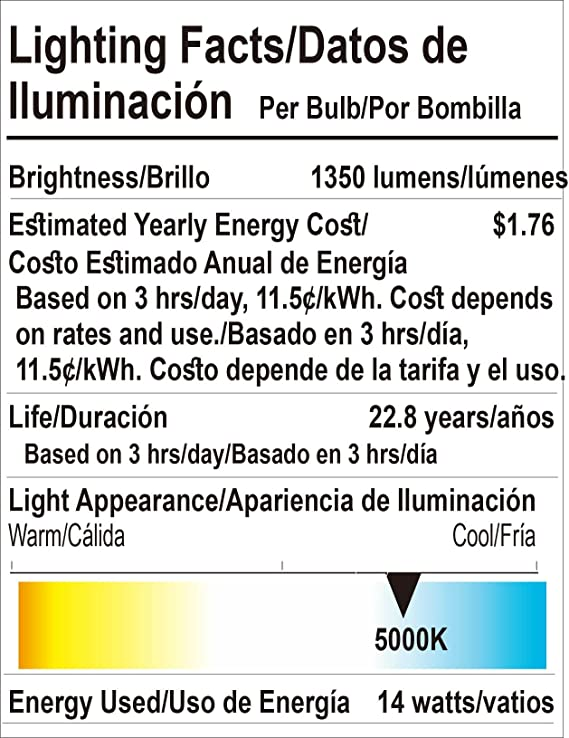 Goodlite G-83343 COB LED Dimmable 5000K 40-Degree Angle 14W 1350 lm PAR38 Spot Light Bulb, Super White - - Amazon.com