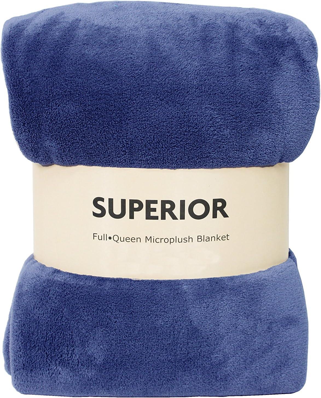 Premium Superior Fleece Blanket Throw, Full/Queen 90x90