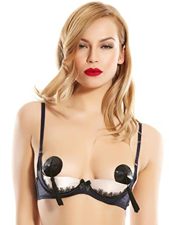 4b2f13380 Ann Summers Womens Navy Black Maddison Erotic Bra Lingerie Underwear Small   Amazon.co.uk  Clothing
