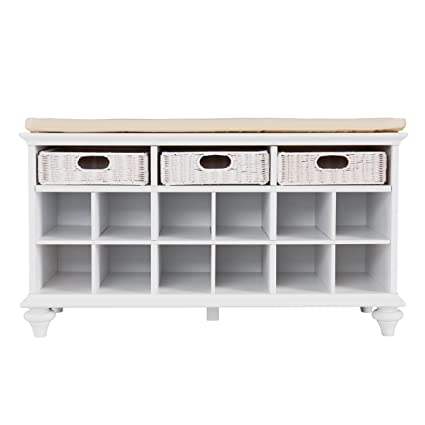 Delicieux Southern Enterprise Chelmsford Entryway Shoe Storage Bench, White Finish
