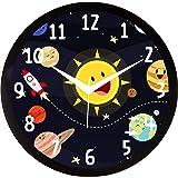 IT2M Designer Round Plastic Wall Clock (28 cm x 28 cm x 5 cm, Black, IT2M1106205B)