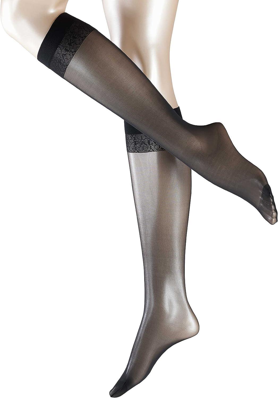 1 Pair In Black or Tan//Nude US sizes 5 to 10.5 FALKE Womens Matt Deluxe 20 DEN Knee-High Dress Sock Matt Sheer