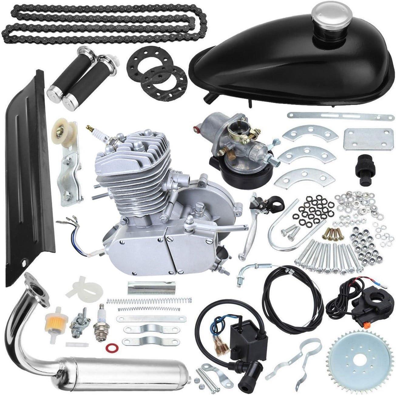 80cc 2 tiempos Kit de motor de gasolina de bicicleta DIY ...