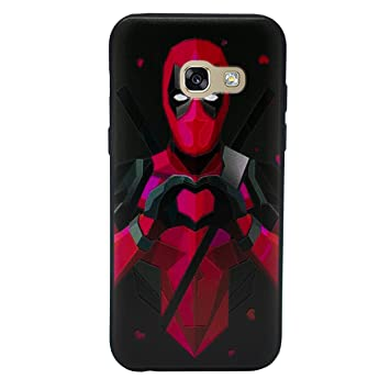 I-CHOOSE LIMITED 3D Marvel Funda/Carcasa del Teléfono para Samsung Galaxy A5 2016 Gel/TPU / Deadpool - Corazón