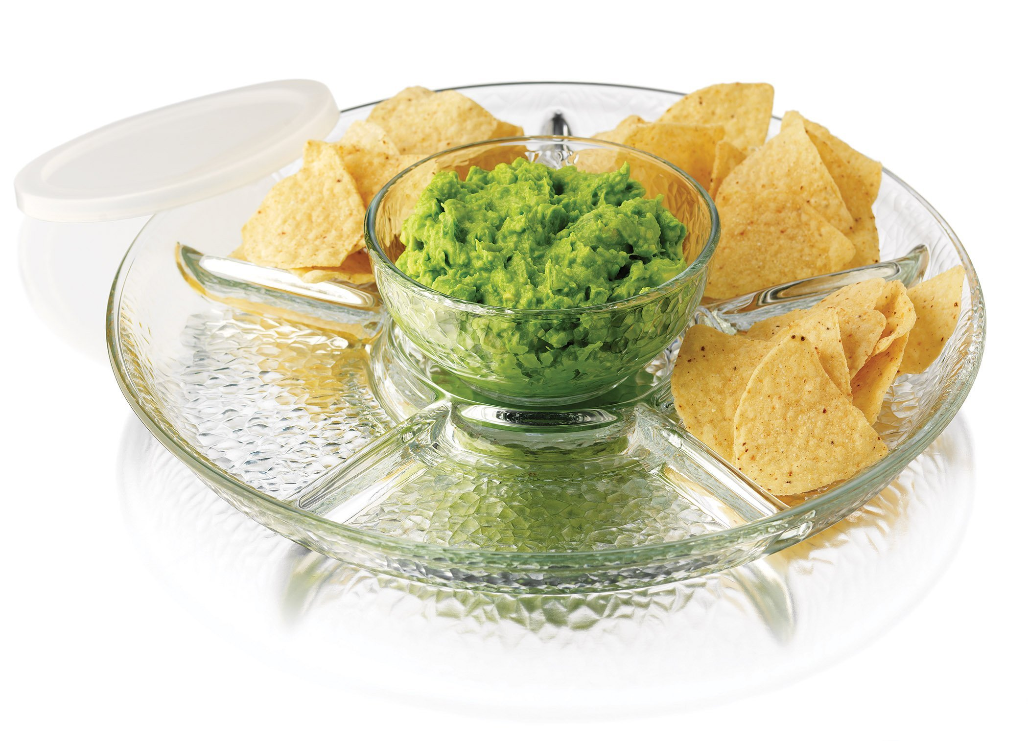 Libbey 3 Piece Frosted Chip & Dip Set, One Size, Clear
