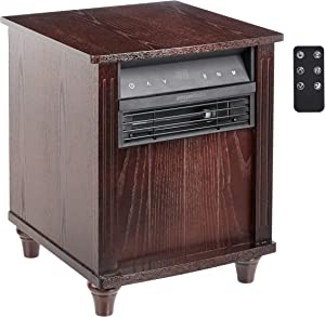 AmazonBasics Cabinet Style Space Heater, Brown Wood Grain Finish, 1500W